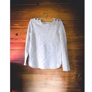 "MADEWELL ""Wallace"" Gray Marino Wool Sweater"